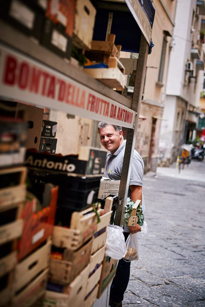 Vegetables delivery - Naples - Italy