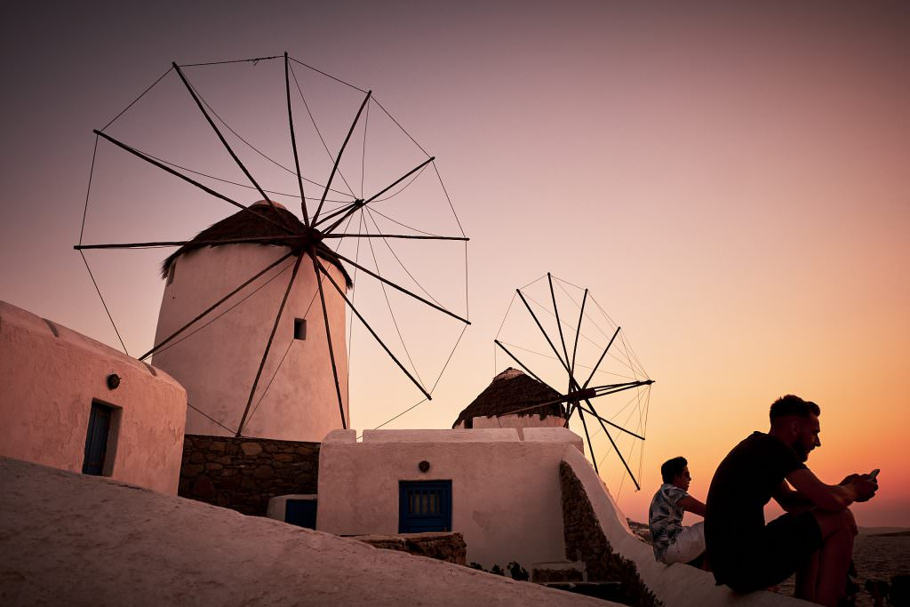 Mykonos windmills- Greece