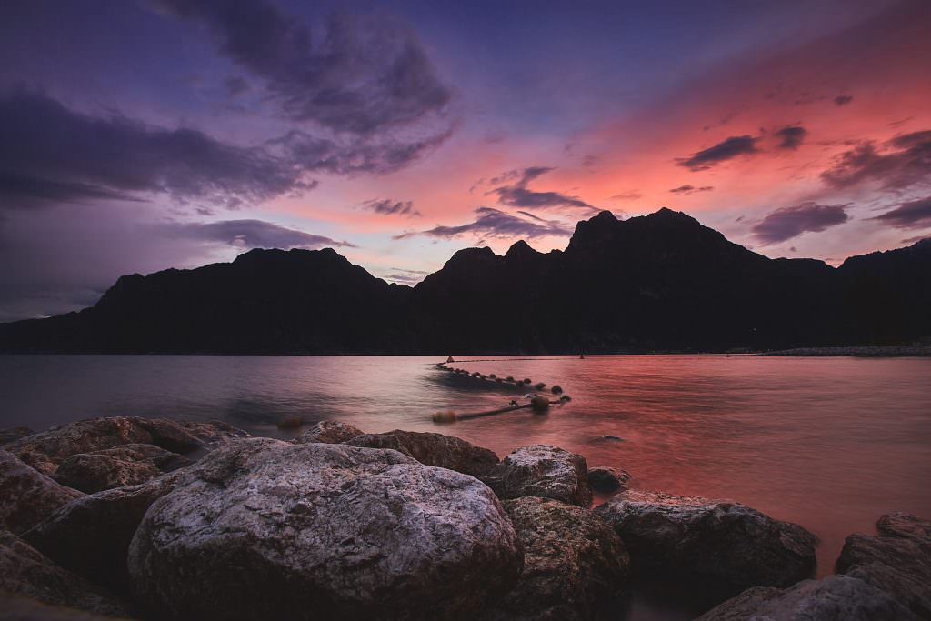 Sunset over Lago di Garda - Italy