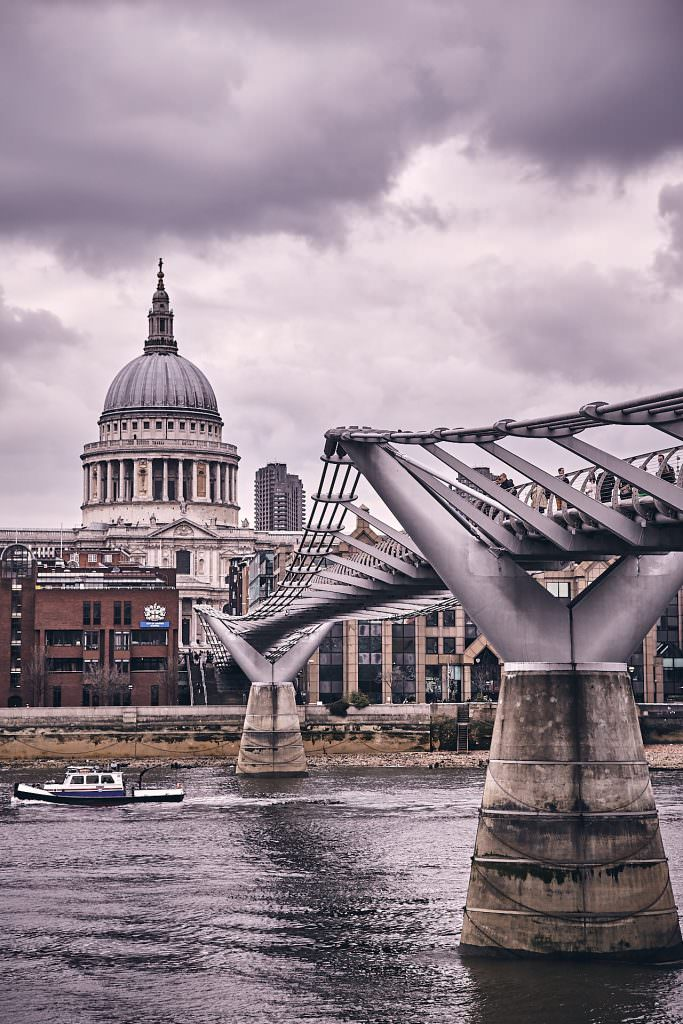 Millenium Bridge & St Paul Cathedral - London - UK