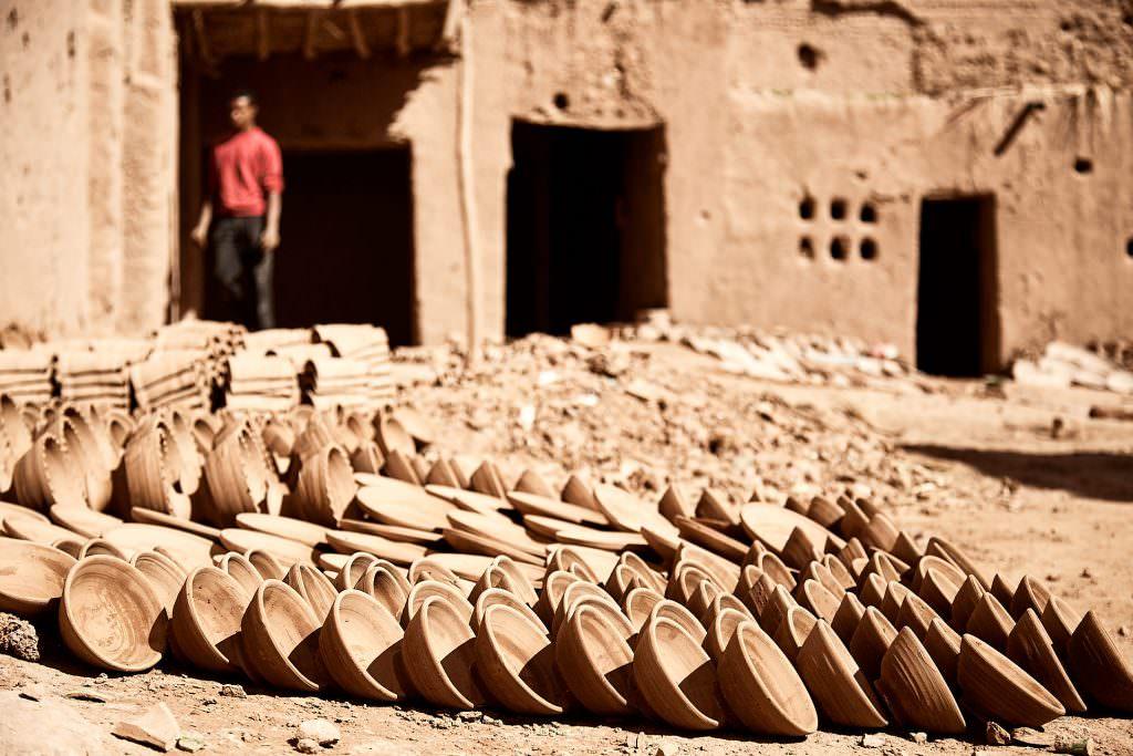 Poteries au séchage - Tamegroute - Maroc