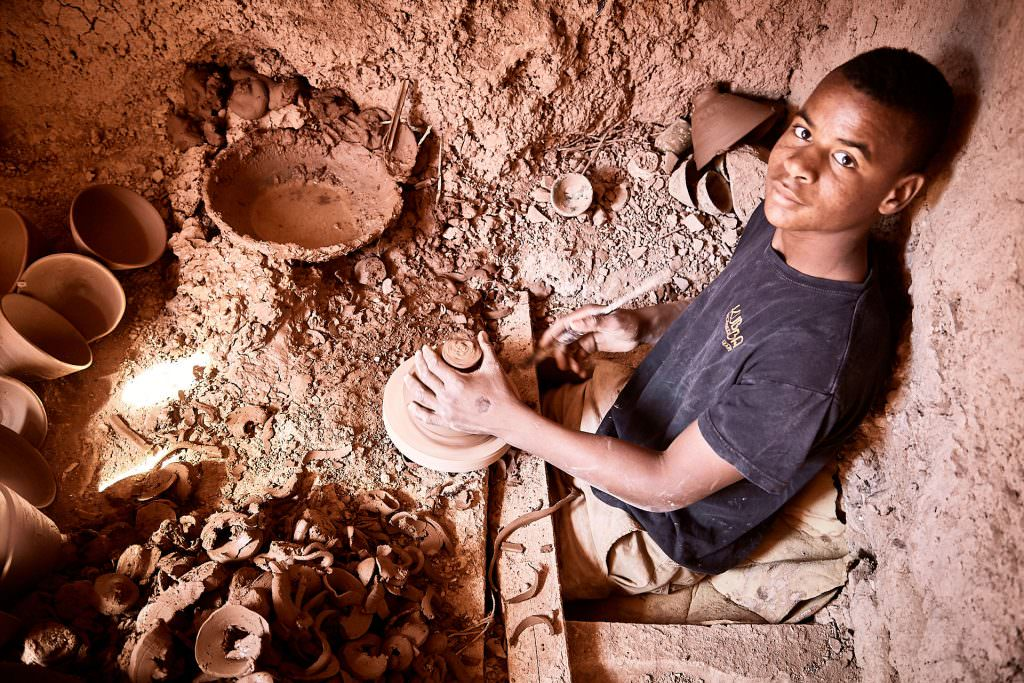 Pottery craftsman - Tamegroute - Morocco