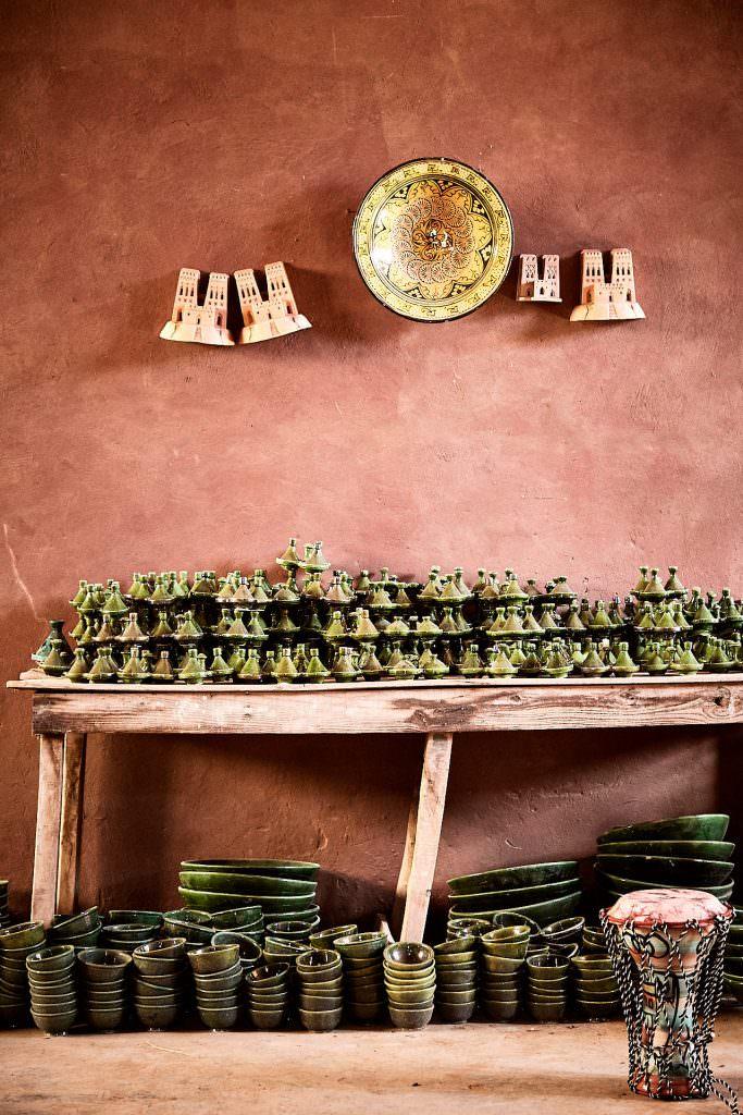Boutique de poterie - Tamegroute - Maroc