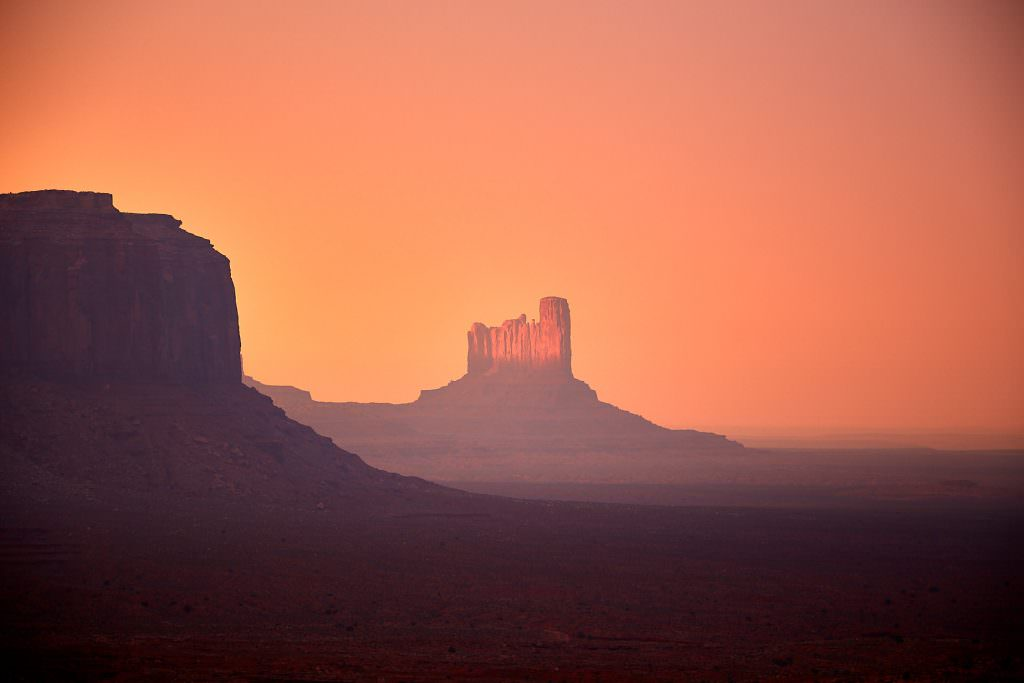Sunset over Monument Valley, AZ - USA