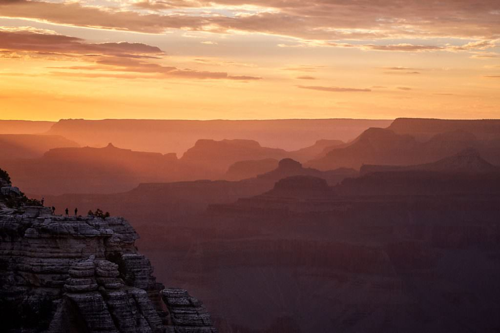 Sunset over Grand Canyon, AZ - USA