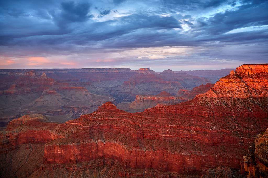 Sunset on Grand Canyon, AZ - USA