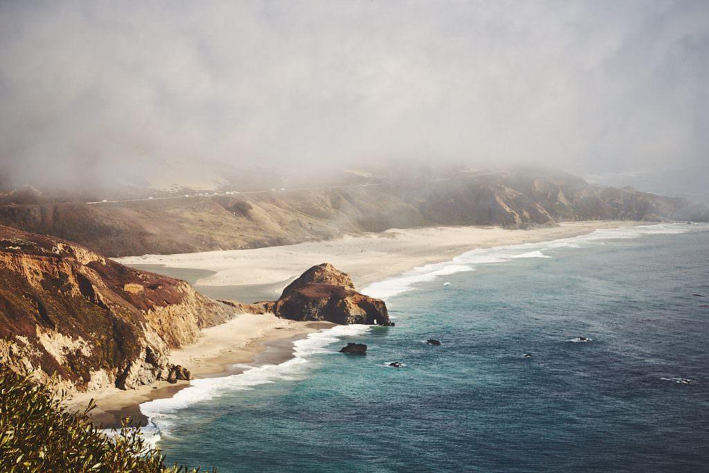 Little River Sur Beach - Big Sur, CA - USA